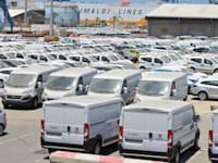 מגרש מכוניות בנמל אשדוד / צילום: תמר מצפי
