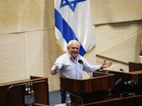 """ח""""כ חיים כץ במליאת הכנסת בזמן הדיון על החוק / צילום: דוברות הכנסת"""