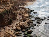 חוף מזוהם מזפת / צילום: Associated Press, Ariel Schalit