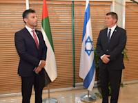 שר החוץ והשגריר מאיחוד האמירויות / צילום: דוברות משרד החוץ