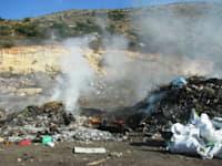 שריפות פיראטיות של פסולת במג'דל כרום / צילום: מועצה אזורית משגב