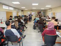 המשתתפים ב־50:50. המחזור השני החל בינואר / צילום: מכללת עזריאלי להנדסה