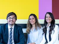 השותפים החדשים במשרד המבורגר: ליאת אלפז, אדוה בן אור וגלעד גוני / צילום: שי פינס