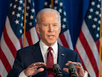 """נשיא ארה""""ב ג'ו ביידן / צילום: Shutterstock, lev radin"""
