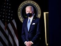 הנשיא ג'ו ביידן, אתמול / צילום: Reuters, TOM BRENNER
