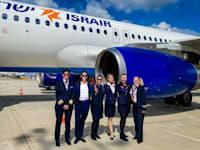 טיסת ישראייר עם צוות נשי בלבד לכבוד יום האישה / צילום: ערן בארי