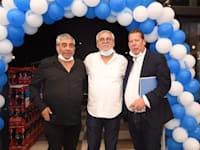 """משמאל: יגאל דמרי, נחום ביתן ומנכ""""ל יינות ביתן מיכאל לובושיץ / צילום: מיכאל אביטבול"""