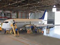 מטוס בתחזוקה בתעשייה האווירית / צילום: התעשייה האווירית