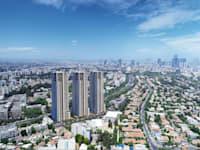 הדמייה של פרויקט אאורה רמת חן / צילום: viewpoint