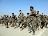 טקס סיום הכשרת טירונים בצבא הלאומי של אפגניסטן, ינואר / צילום: Associated Press, Rahmat Gul