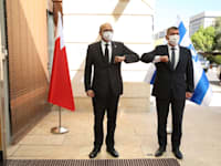 גבי אשכנזי עם שר החוץ של בחריין, עבד א-לטיף א-זיאני / צילום: משרד החוץ
