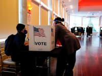"""בוחרים בג'ורג'יה בבחירות האחרונות בארה""""ב / צילום: Associated Press, Brynn Anderson"""