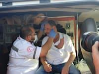 """ח""""כ עופר כסיף הותקף על ידי שוטרים בהפגנה במזרח ירושלים / צילום: דוברות חכ עפר כסיף"""