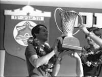 """מכבי תל אביב אלופת אירופה, 1977 / צילום: סער יעקב-לע""""מ"""
