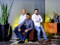 מימין: המייסדים ניר כהן, איציק מלכה ויואב כהן / צילום: איל יצהר