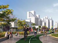 שכונת המגורים החדשה שתבנה בדרום חדרה / הדמיה: יסקי מור סיון אדריכלים