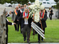 משתתפים  בטקס הזיכרון השנתי לשואת הארמנים בקליפורניה היום / צילום: Reuters, David Swanson