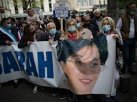 הפגנה בפריז בעקבות הרצת של שרה חלימי / צילום: Associated Press, Daniel Cole