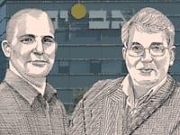 אהרון פרנקל נגד צחי נחמיאס / איור: גיל ג'יבלי