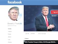 עמוד הפייסבוק של טראמפ. נחסם לאחר ההסתערות על גבעת הקפיטול / צילום: צילום מסך