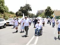 """הפגנת נכי צה""""ל בירושלים / צילום: אבירם ולדמן"""