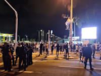 כוחות המשטרה בעכו הערב / צילום: דוברות משטרת ישראל