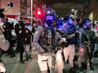 כוחות משטרה באזור בת ים הערב / צילום: דוברות משטרת ישראל