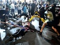 הלינץ' בבת ים / צילום: ראובן קסטרו, וואלה! NEWS