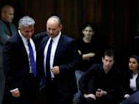 לפיד ובנט / צילום: Reuters, Baz Ratner
