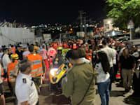 """זירת האסון בגבעת זאב / צילום: דוברות מד""""א"""