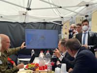 שר החוץ הגרמני הייקו מאס ומפקד פיקוד העורף, האלוף אורי גורודין היום (ה') / צילום: משרד החוץ