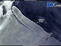הקרחון A-76. גדול פי 80 ממנהטן / צילום: European Union, Copernicus Sentinel-1 imagery