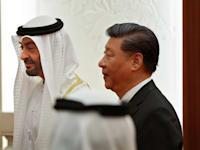 נשיא סין שי ג'ינפינ ונסיך הכתר של האמירויות מוחמד בן זיאד / צילום: Reuters, Andy Wong