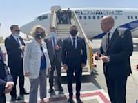 שר החוץ גבי אשכנזי נוחת בקהיר / צילום: משרד החוץ