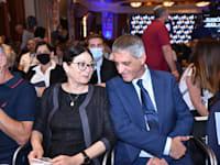"""יו""""ר לשכת עורכי הדין אבי חימי ונשיאת בית המשפט העליון אסתר חיות בכנס עורכי הדין / צילום: דוברות לשכת עורכי הדין"""