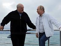 ולדימיר פוטין ואלכסנדר לוקשנקו / צילום: Reuters