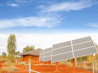 פאנלים סולריים במדבר באפריקה / צילום: Shutterstock, ngehogenbijl