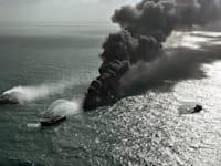 השריפה על ספינת המטען MV X-Press Pearl / צילום: Associated Press, Sri Lanka Air Force