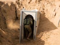 מנהרת טרור שחפר הג'יהאד האיסלאמי הפלסטיני, סמוך לקיבוץ כיסופים / צילום: Associated Press, Jack Guez/Pool