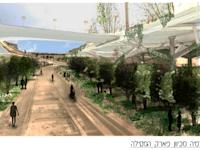 הקומה העליונה של מתחם חניון בנבנישתי / הדמיה: אדריכל חיים לוטנר