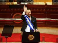 נשיא אל סלבדור נאיב בוקלה / צילום: Reuters, Jose Cabezas