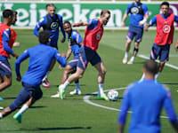 נבחרת אנגליה מתאמנת השבוע למשחקי היורו / צילום: Associated Press, Matt Rourke