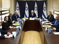 פגישת ראשי הקואליציה / צילום: אריאל זנדברג