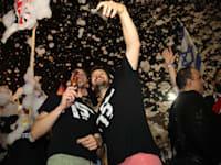 חוגגים את השבעת הממשלה בכיכר רבין / צילום: כדיה לוי