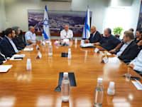 מפגש ראשון של אביגדור ליברמן עם הנהלת משרד האוצר / צילום: דוברות משרד האוצר