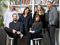 הצוות הישראלי של אינטל קפיטל עם עם המנהלים היוצא והנכנס, שוהם ובר-קט / צילום: אייל טואג