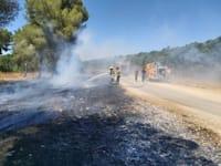 """שריפות שנגרמו מהפרחת בלוני תבערה באזור גבול רצועת עזה / צילום: קק""""ל"""