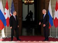 פגישת הפסגה של פוטין וביידן / צילום: Reuters, קווין לאמרק