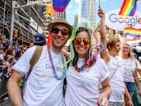 עובדי גוגל במצעד הגאווה בטורונטו / צילום: Shutterstock