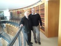 פרופ' יובל אלבשן ושופט העליון בדימוס צבי טל / צילום: פרופ' יובל אלבשן, צילום פרטי